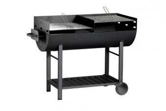 Tepro Holzkohlegrill / Grillwagen Dallas Grillfläche 2x 54x50cm Bild 1