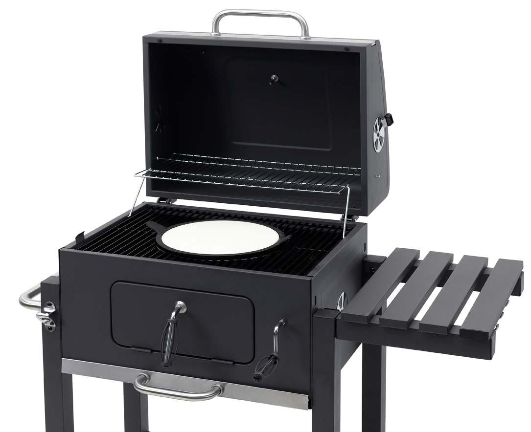 Tepro Toronto Holzkohlegrill : Tepro holzkohlegrill grillwagen toronto click grillfläche