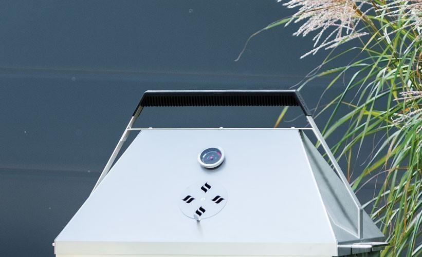 THÜROS Barbecuehaube mit Thermometer für Grillfläche 40x60cm Edelstahl Bild 1