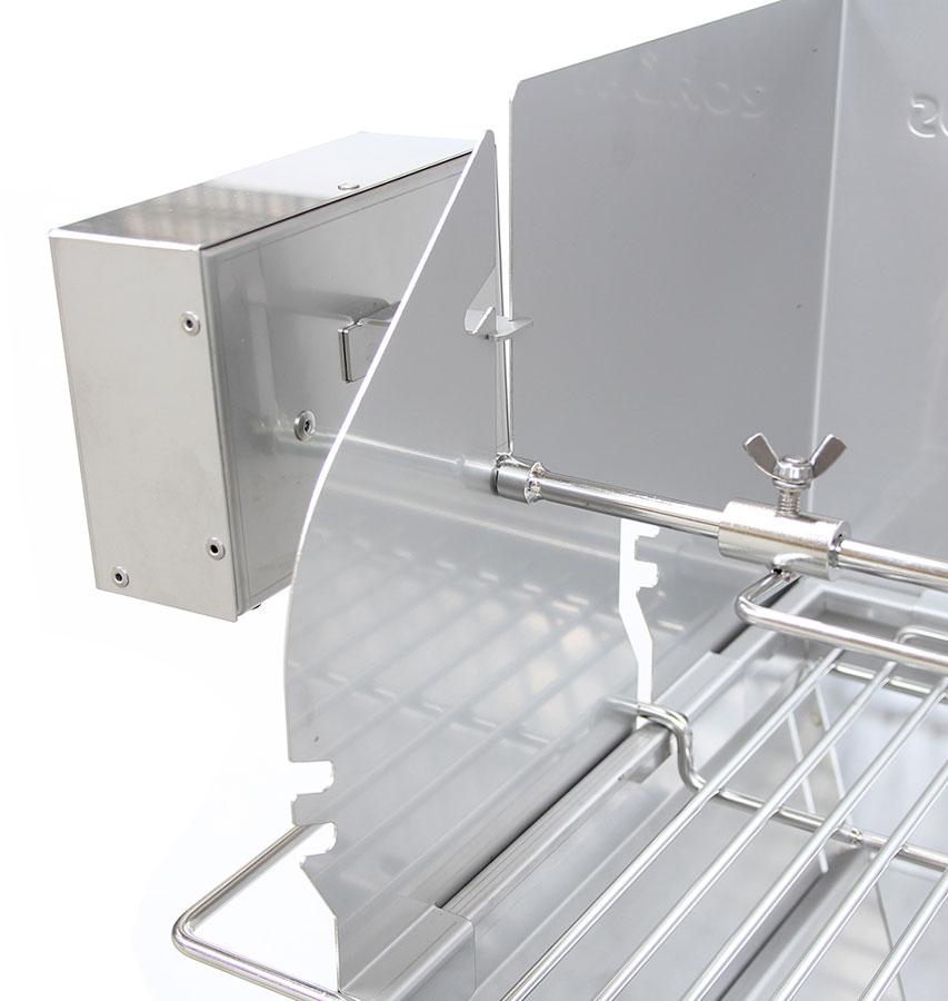 THÜROS Grillmotor 220 V Edelstahlgehäuse für Aufsatz Windansteckblech Bild 2