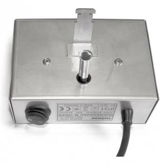 THÜROS Grillmotor 220 V Edelstahlgehäuse für Aufsatz Windansteckblech Bild 1