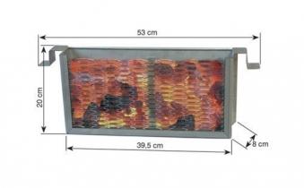THÜROS Kohleschacht für Seitenhitze für Toronto / Amrum Edelstahl Bild 2