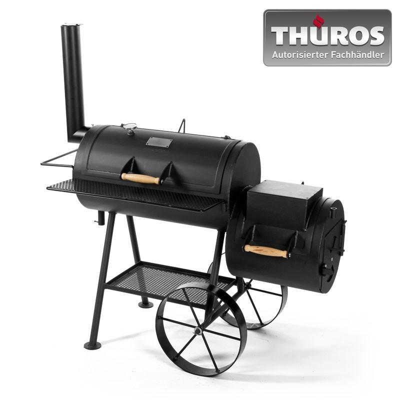 THÜROS Smoker Barbecue Grill Stahl Bild 1