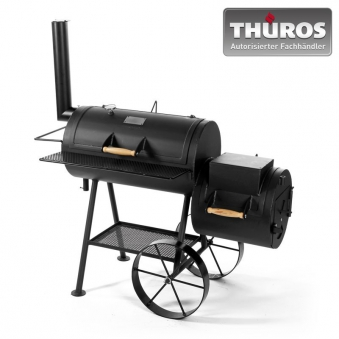 THÜROS Smoker Barbecue Grill Stahl