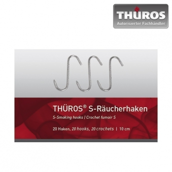 Thüros Räucherhaken S-Form / S-Haken Edelstahl 10cm 20 Stück Bild 1