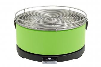 Rauchfreier Grill Feuerdesign Mayon Ø33cm grün Bild 1