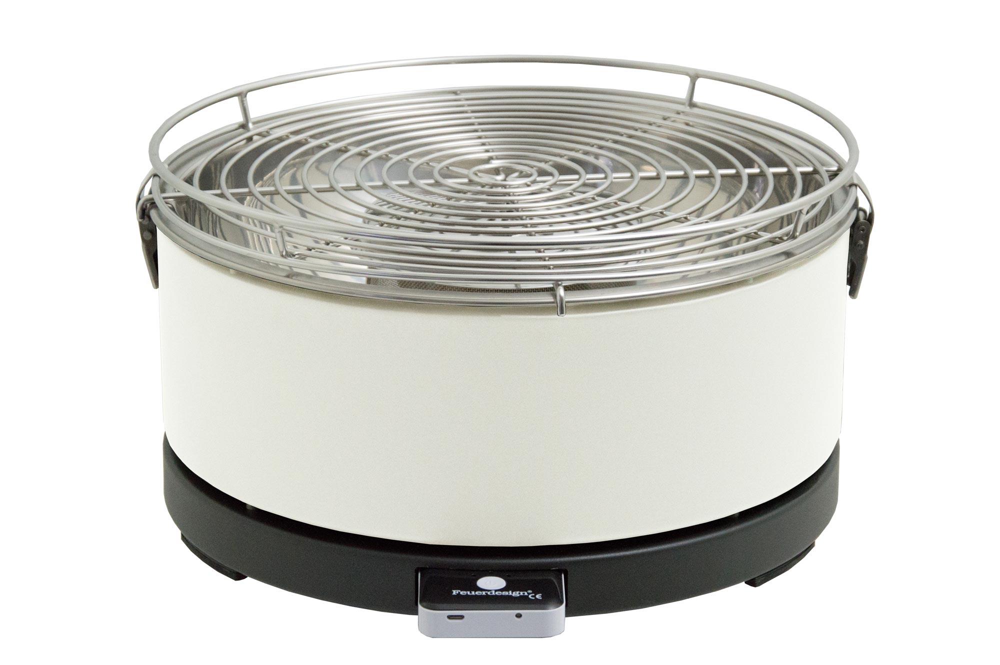 Rauchfreier Holzkohlegrill Preisvergleich : Rauchfreier grill feuerdesign mayon Ø cm weiß bei edingershops