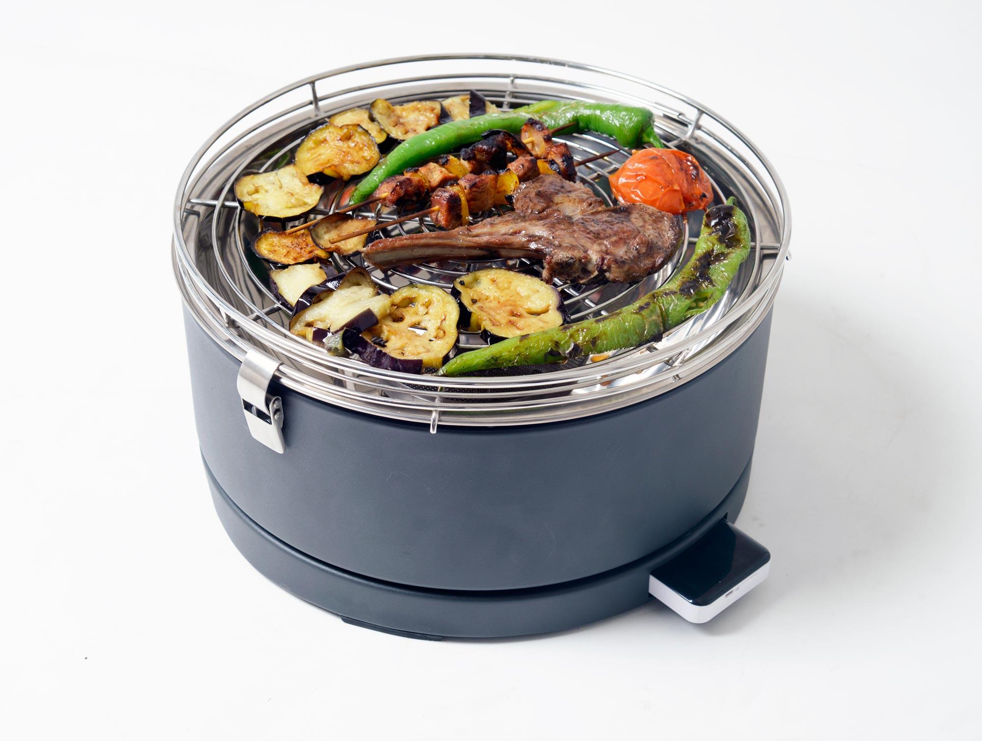 Rauchfreier Tisch Holzkohlegrill : Rauchfreier grill feuerdesign mayon Ø cm weiß bei edingershops