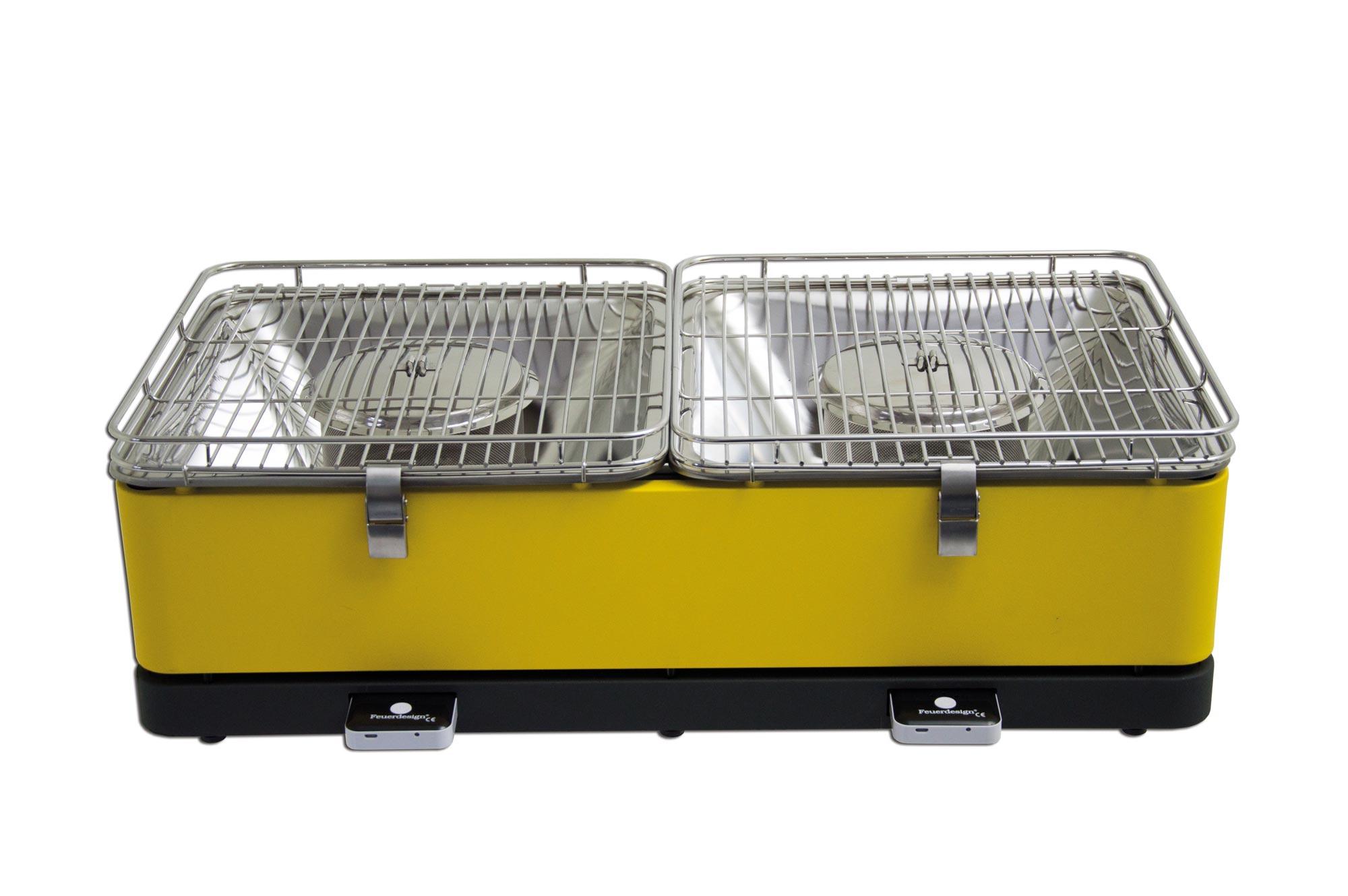 Rauchfreier Holzkohlegrill Erfahrungen : Rauchfreier grill feuerdesign santorin cm gelb bei