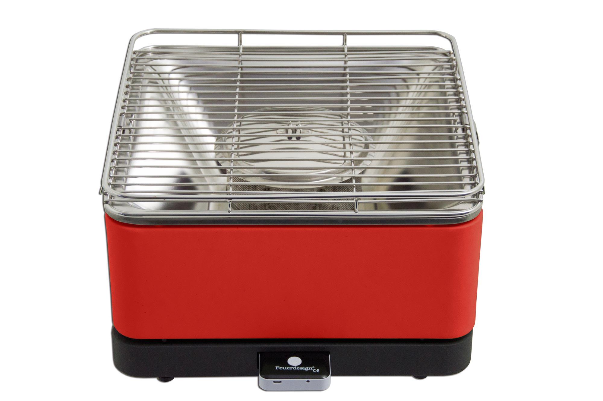 Rauchfreier Holzkohlegrill Vergleich : Rauchfreier grill feuerdesign teide cm rot bei edingershops