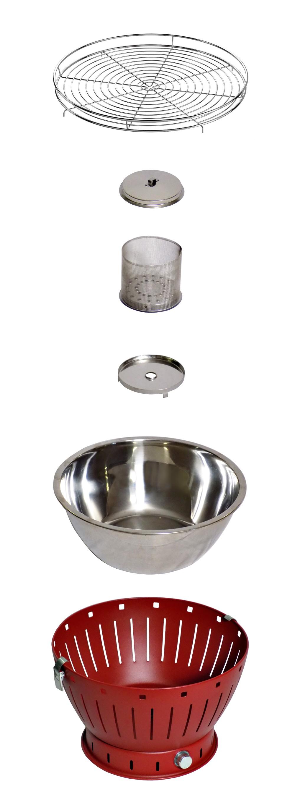 Rauchfreier Grill / Tischgrill JustGrill My Sahara Ø 34cm schwarz Bild 2