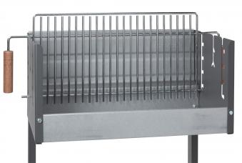 Dancook Holzkohlegrill / Grillwagen / Vertikalgrill 7400 Rost 62x25cm Bild 2