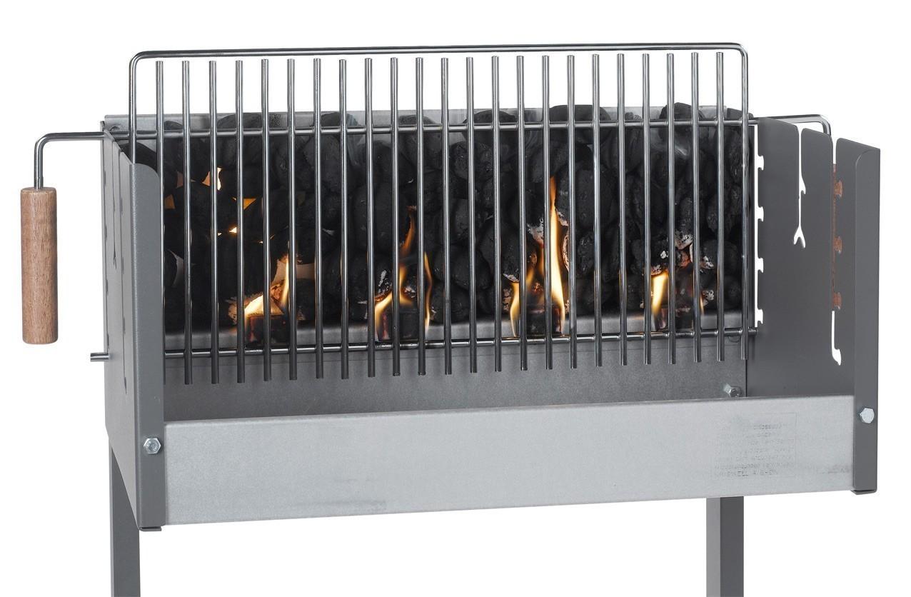Dancook Holzkohlegrill / Grillwagen / Vertikalgrill 7500 Rost 62x25cm Bild 3
