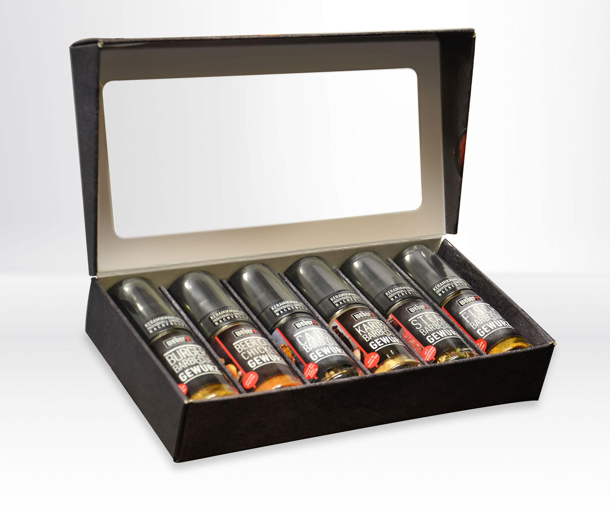 weber bbq gew rz set geschenkset mit 6 grillgew rzen bei. Black Bedroom Furniture Sets. Home Design Ideas