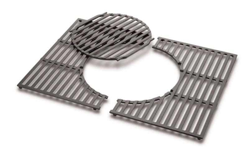 weber grillrost mit einsatz f r spirit 300 gusseisen bei. Black Bedroom Furniture Sets. Home Design Ideas