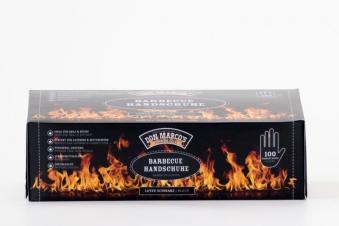 Don Marco´s Barbecue Handschuhe Latex Größe L schwarz 100 Stück Bild 1