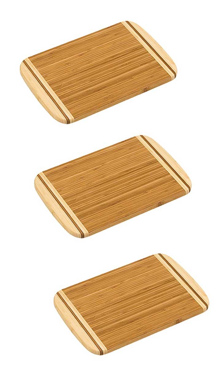 Schneidbrett Bambus 30x20x1,6cm 3er Set Bild 1