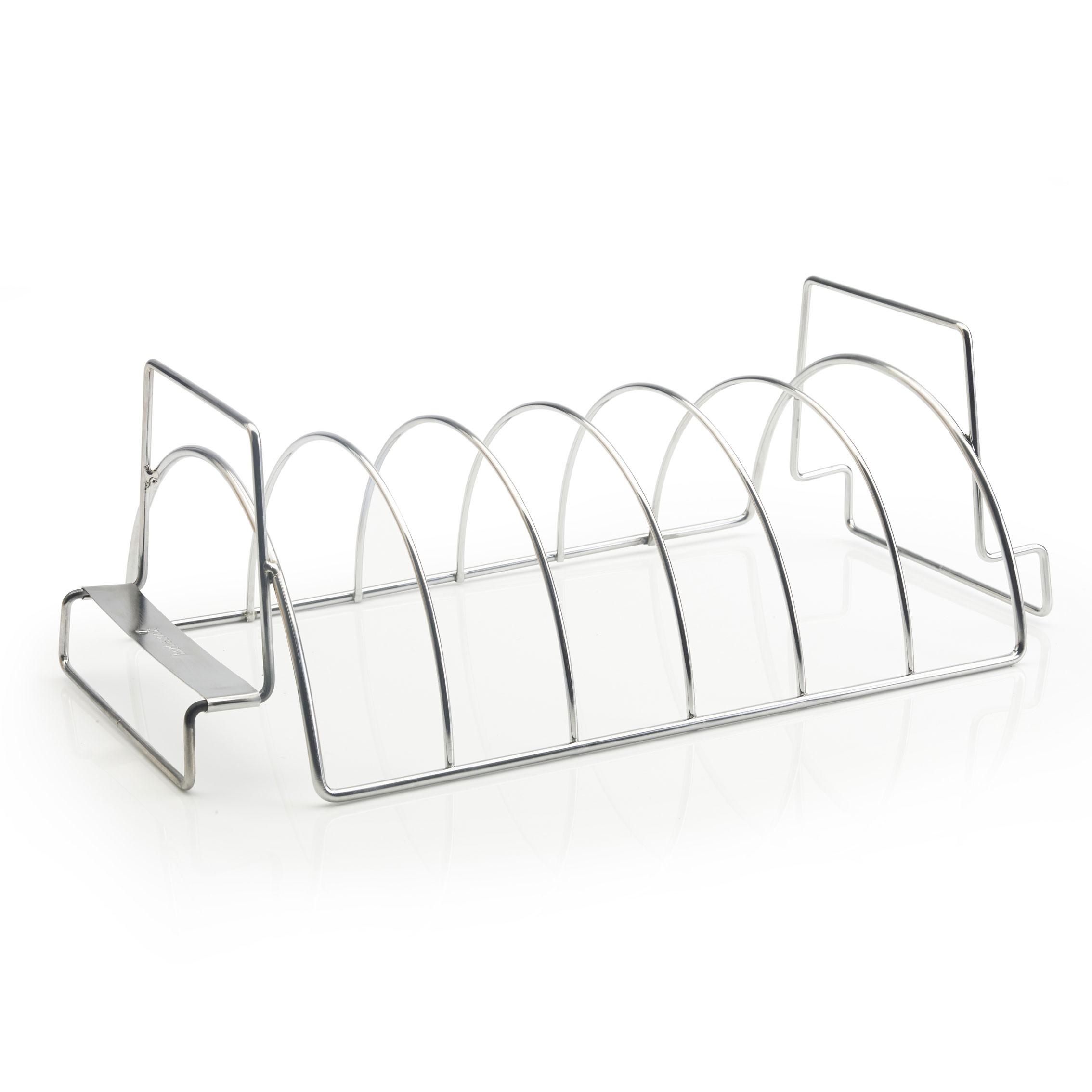 spare rib halter bratenkorb barbecook edelstahl bei. Black Bedroom Furniture Sets. Home Design Ideas