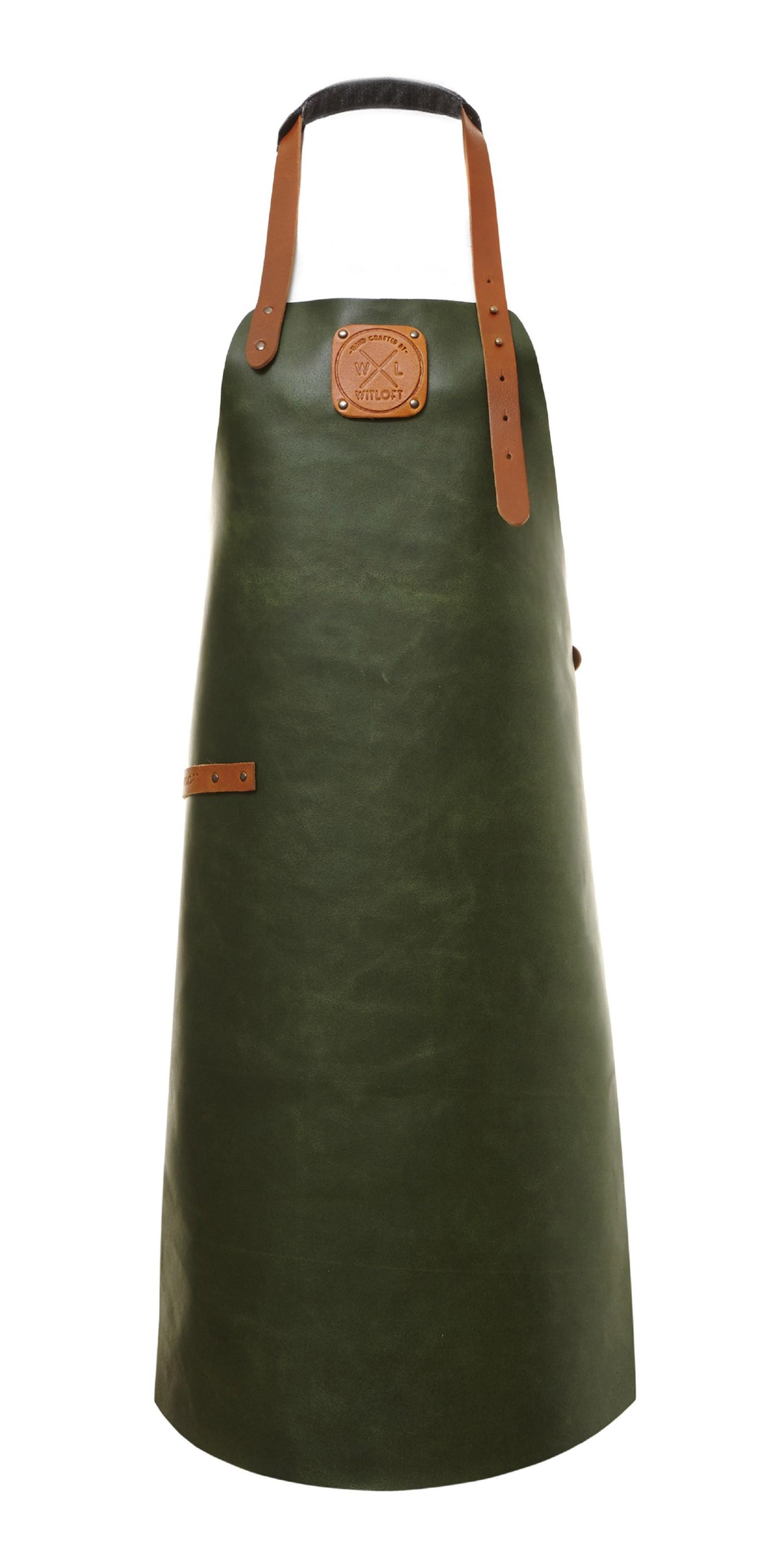 Witloft Grillschürze / Lederschürze Green/Cognac Größe XL Bild 1