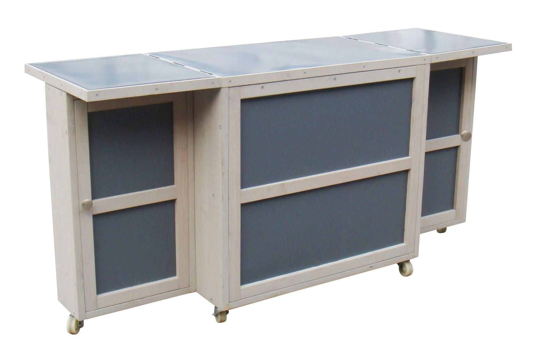 grilltisch habau caddy mit verzinkter arbeitsplatte 70x44x71cm bei. Black Bedroom Furniture Sets. Home Design Ideas