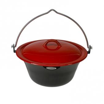 bon fire topf kochtopf mit deckel schwarz rot 8 liter bei. Black Bedroom Furniture Sets. Home Design Ideas
