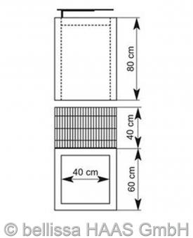 Gabionengrill Steinkorb bellissa 80cm Bild 3