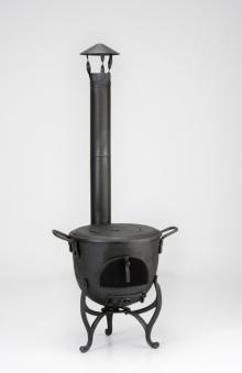 terrassenofen balkonofen globe fire vulkan schwarz. Black Bedroom Furniture Sets. Home Design Ideas